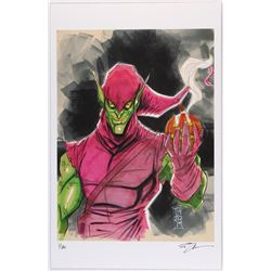 """Green Goblin"" Spider-Man Villain Series Signed Limited Edition 11x17 Lithograph by Tom Hodges #2/20"