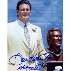 "Dan Hampton Signed 8x10 Photo Inscribed ""HOF 2002"" (JSA COA)"
