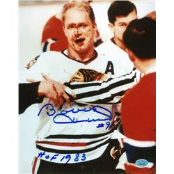 "Bobby Hull Signed Blackhawks 8x10 Photo Inscribed ""HOF 1983"" (Hollywood Collectibles COA)"