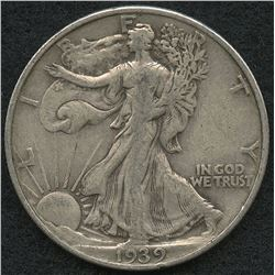 1939 Walking Liberty Silver Half Dollar