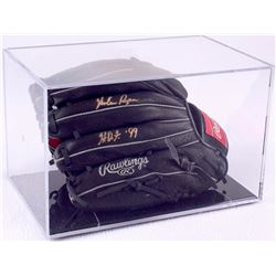 "Nolan Ryan Signed Rawlings Full-Size Pro Model Baseball Glove Inscribed ""HOF 99"" with Display Case ("