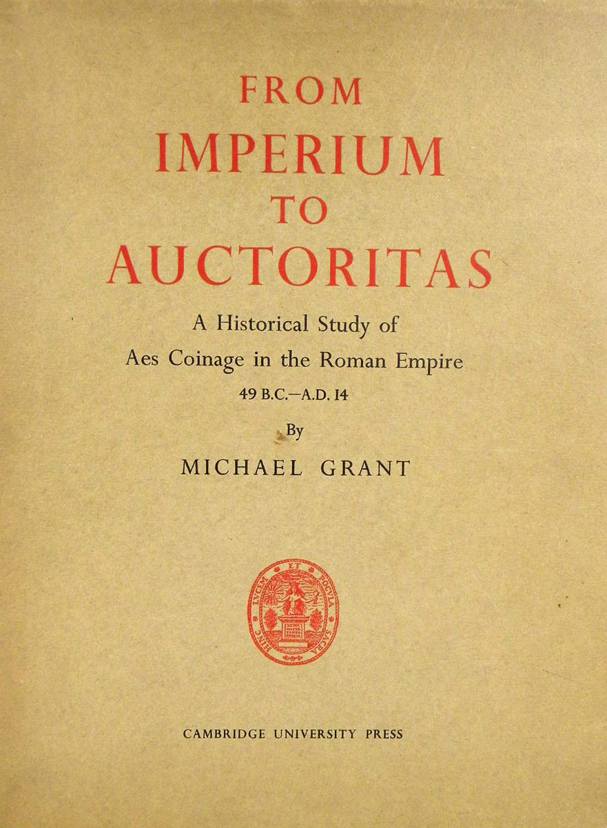 from imperium to auctoritas cambridge university press library editions