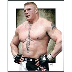 Brock Lesnar Limited Edition 11x14 Signed Art Print by Jeff Lang (Artist Proof #2/3)