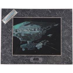 Star Wars The Empire Strikes Back 1994 Limited Edition Chromium Print: Millennium Falcon's Escape (L