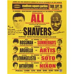 Earnie Shavers Signed 16x20 Replica 1977 Fight Poster vs. Muhammad Ali with Extensive Inscription (S