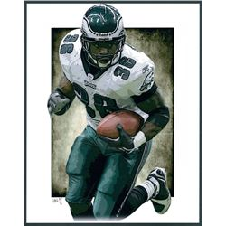 Brian Westbrook Eagles Limited Edition 11x14 Signed Art Print by Jeff Lang (Artist Proof #3/3)