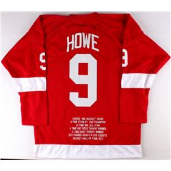 Gordie Howe Red Wings On-Ice Style Custom Stitched Career Highlight Stat Jersey (Size XL)
