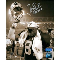 "Tim Brown Signed Raiders 8x10 Photo Inscribed ""HOF 2015"" (Radtke COA)"