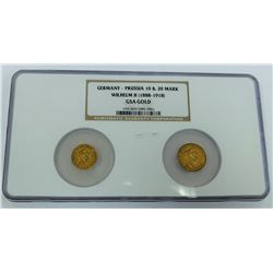 GSA HOARD PRUSSIA- GOLD 10 MARK AND 5 MARK COINS NGC