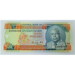 WORLD PAPER-BARBADOS $50 REPLACEMENT NOTE