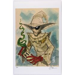 """Scarecrow"" Batman Villain Series Signed Limited Edition 11x17 Lithograph by Tom Hodges #2/20"