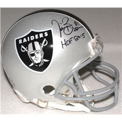 "Tim Brown Signed Raiders Mini-Helmet Inscribed ""HOF 2015"" (Radtke COA)"