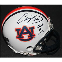 "Chris Davis Jr. Signed Auburn Mini-Helmet Inscribed ""Got A Second"" (Radtke COA)"