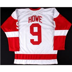 Gordie Howe Red Wings On-Ice Style Custom Stitched Jersey (Size XL)