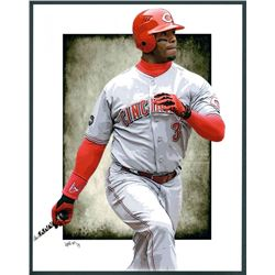 Ken Griffey Jr. Reds Limited Edition 11x14 Signed Art Print by Jeff Lang (Artist Proof #3/3)