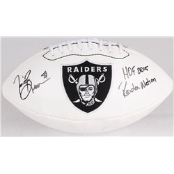 "Tim Brown Signed Raiders Logo Football Inscribed ""HOF 2015"" & ""Raiders Nation"" (Radtke COA)"