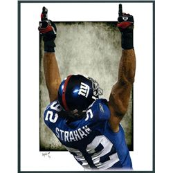 Michael Strahan Giants Limited Edition 11x14 Signed Art Print by Jeff Lang (Artist Proof #3/3)