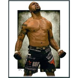 "Quinton ""Rampage"" Jackson Limited Edition 11x14 Signed Art Print by Jeff Lang (Artist Proof #3/3)"
