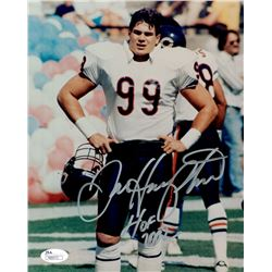 "Dan Hampton Signed Bears 8x10 Photo Inscribed ""HOF 2002"" (JSA COA)"