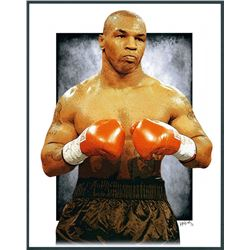 Mike Tyson Limited Edition 11x14 Signed Art Print by Jeff Lang (Artist Proof #3/3)