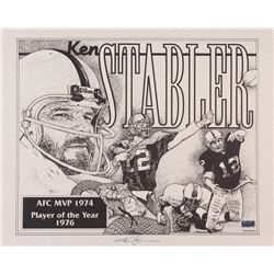 "Ken Stabler Signed Raiders Limited Edition 20"" x 16"" Lithograph by R Michael Armstrong (Stabler LOA)"