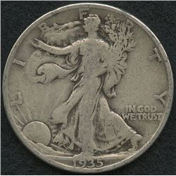 1935-D Walking Liberty Silver Half Dollar