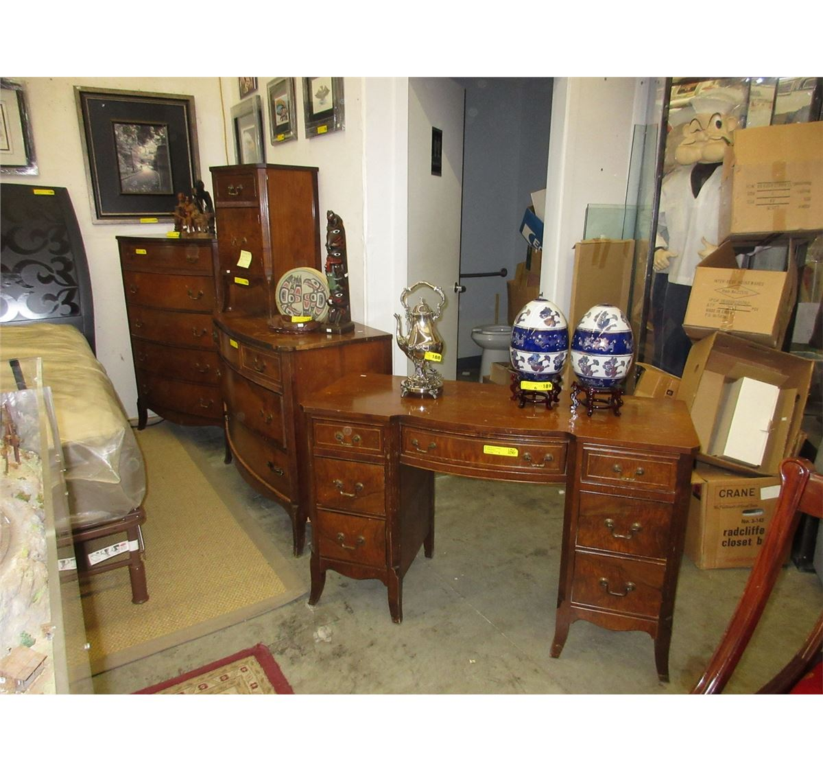 . Vintage Walnut  Knechtel  bedroom furniture
