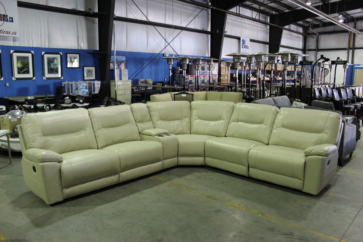 New light tan leather 6 piece sectional reclining sofa set for 8 piece leather sectional sofa
