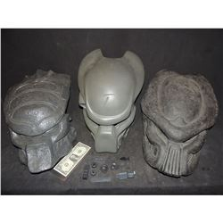 ALIEN VS PREDATOR LOT OF 3 HELMET CASTINGS WITH PARTS