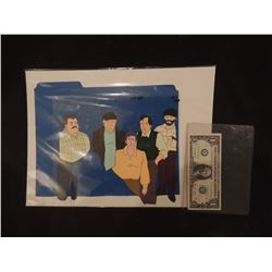 GHOSTBUSTERS THE REAL CARTOON ORIGINAL FILM CELL WITH ORIGINAL ARTWORK 1