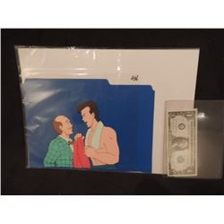 GHOSTBUSTERS THE REAL CARTOON ORIGINAL FILM CELL WITH ORIGINAL ARTWORK 2