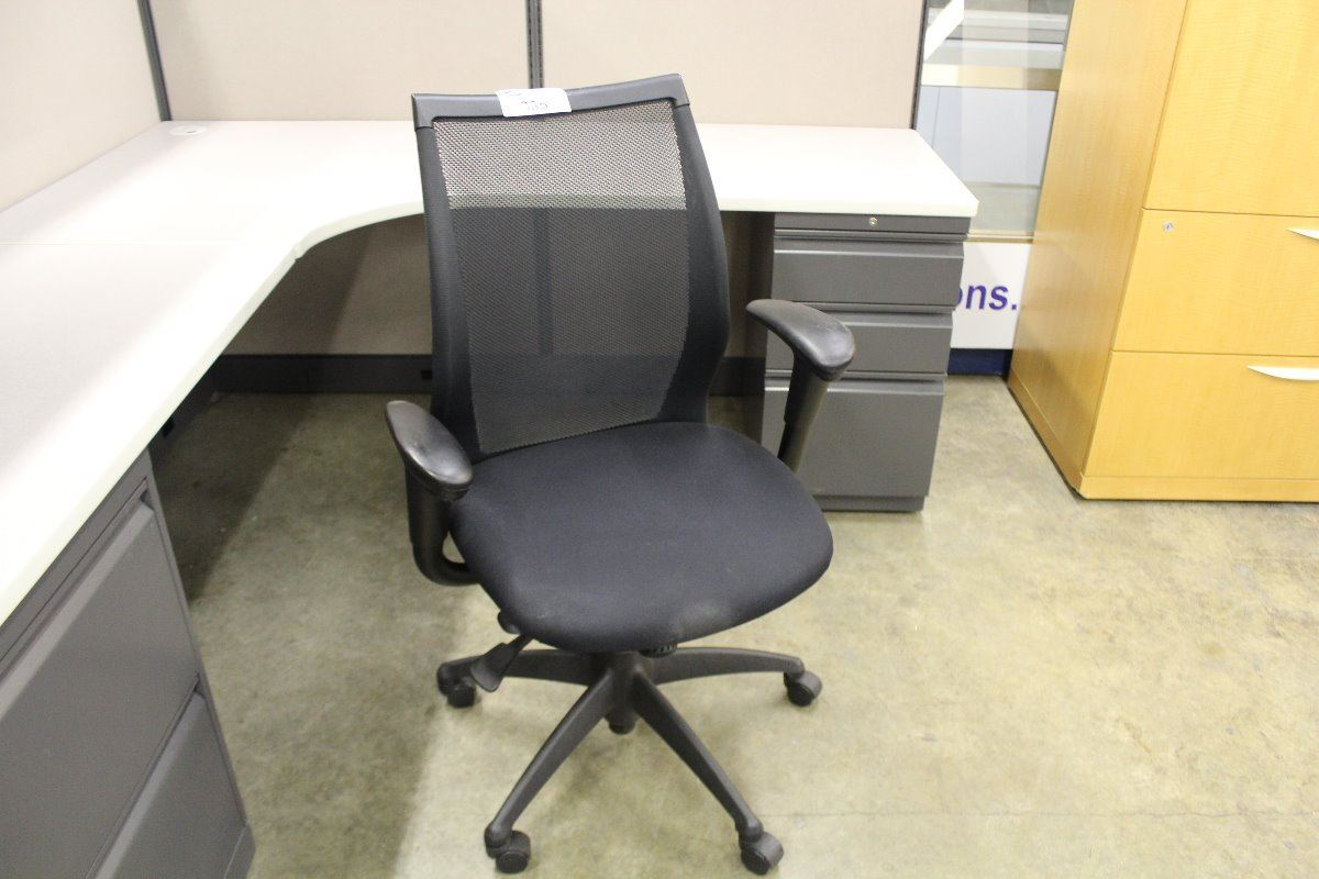 ... Image 2  HAWORTH IMPROV TAG MESH BACK BLACK TASK CHAIR & HAWORTH IMPROV TAG MESH BACK BLACK TASK CHAIR