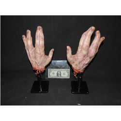 AMERICAN HORROR STORY FREAK SHOW SCREEN MATCHED HERO SEVERED LOBSTER MAN HANDS