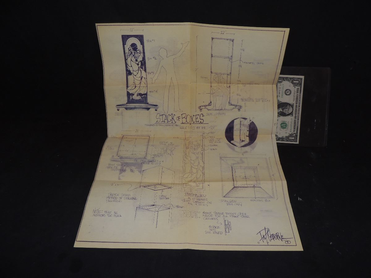Magic trick vintage stack of boxes blueprint inside magician secret image 1 magic trick vintage stack of boxes blueprint inside magician secret malvernweather Image collections