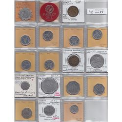 Ontario Trade Tokens - Lot of 18 Bruce County trade tokens