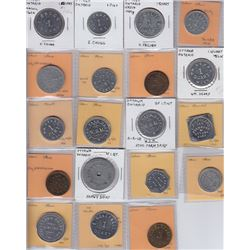 Ontario Trade Tokens, Carleton County - Lot of 19 Ottawa Dairy Tokens