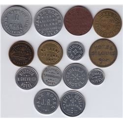 Ontario Trade Tokens, Carleton County - Lot of 14 Ottawa Hotel Tokens