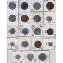 Ontario Trade Tokens, Carleton County - Lot of 19 Ottawa Tokens
