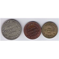 Ontario Trade Tokens, Carleton County - Lot of 3 Breton Listed Ottawa Tokens