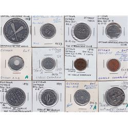 Ontario Trade Tokens, Carleton County - Lot of 12 Ottawa Tokens
