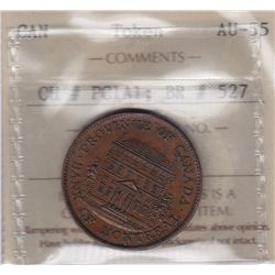 Br 527. Bank of Montreal Halfpenny, 1842.