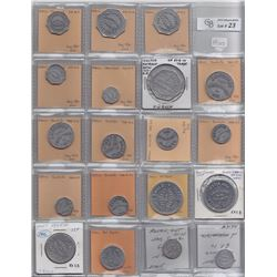 Lot of 19 Ontario Trade Tokens