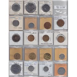 Lot of 79 Ontario Trade Tokens