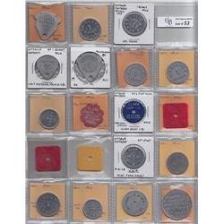 Lot of 36 Ontario Trade Tokens