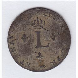 Br 508. Billon Double Sol of 24 Deniers. 1741 A. (Paris).