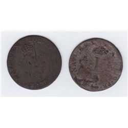 Br 508. Billon Double Sol of 24 Deniers. 1742 A. (Paris).
