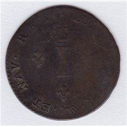 Br 508. Billon Double Sol of 24 Deniers. 1744 A. (Paris).