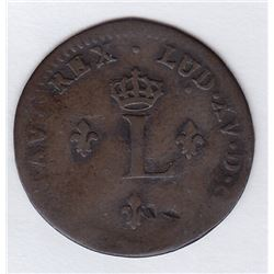 Br 508. Billon Double Sol of 24 Deniers. 1754 A. (Paris).