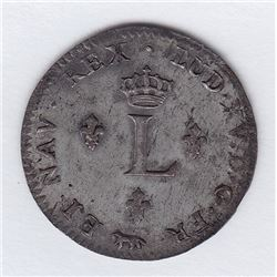 Br 508. Billon Double Sol of 24 Deniers. 1755 A. (Paris).