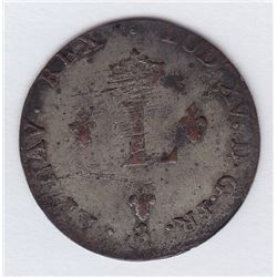 Br 508. Billon Double Sol of 24 Deniers. 1757 A. (Paris).
